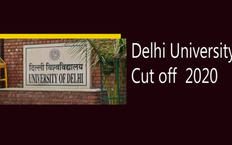 Delhi University Cut off 2020