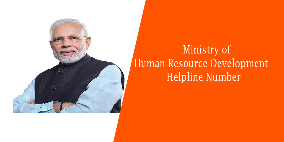 Ministry of Human Resource Development Helpline Number