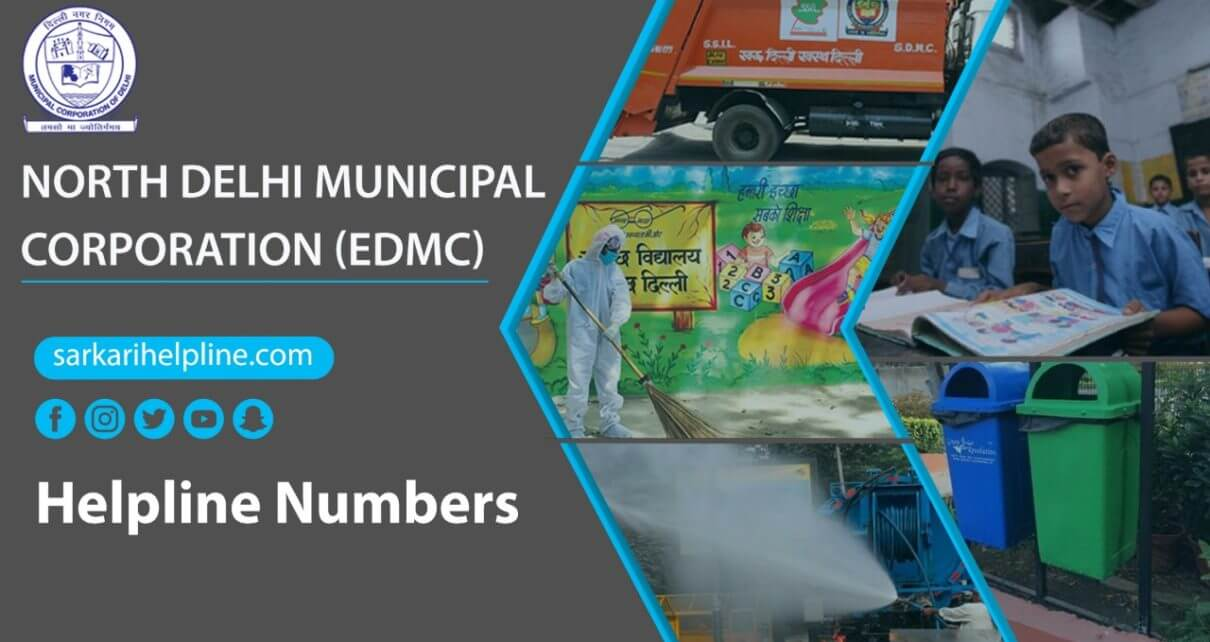 North Delhi Municipal Corporation (EDMC) Helpline Number