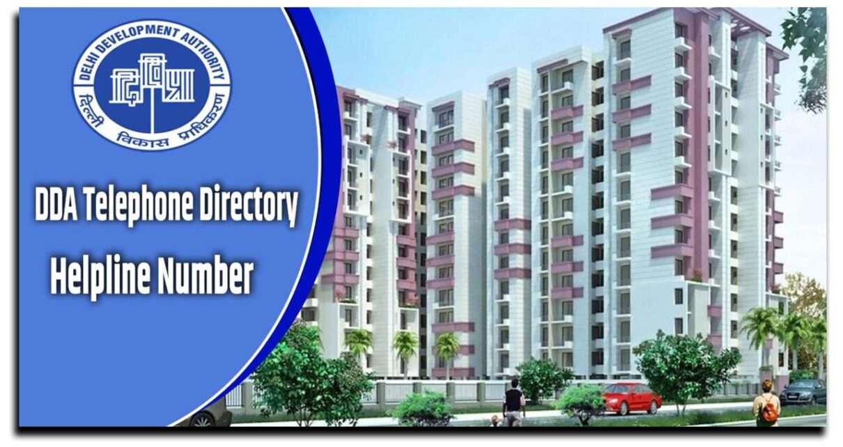 Delhi Development Authority Telephone Directory DDA Helpline Number