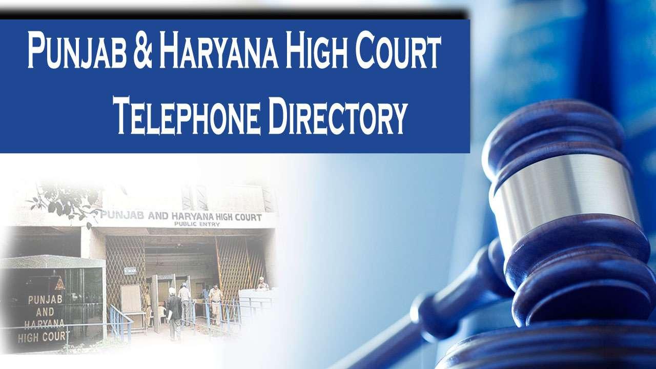 Punjab and Haryana High Court Telephone Directory