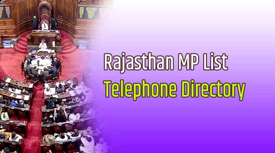 Rajasthan Rajya Sabha Members Telephone Directory