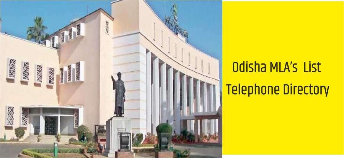 Odisha MLA List Telephone Directory